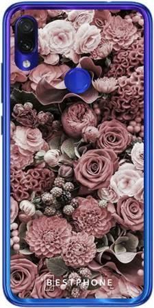 Etui różowa kompozycja kwiatowa na Xiaomi Redmi 7