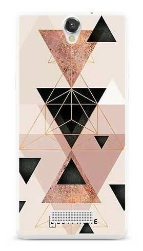 Etui trójkąty pudrowe na MyPhone Cube