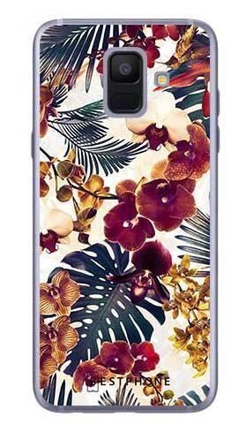 Etui tropikalne kwiaty na Samsung Galaxy A6