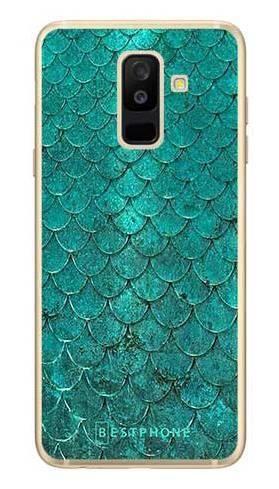Etui turkusowa rybia łuska na Samsung Galaxy A6 Plus