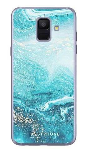 Etui turkusowy marmur na Samsung Galaxy A6
