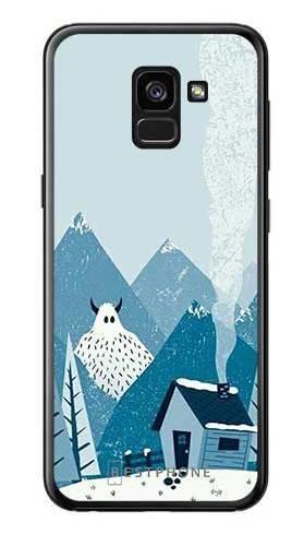 Etui yeti i góry na Samsung Galaxy A7 2018