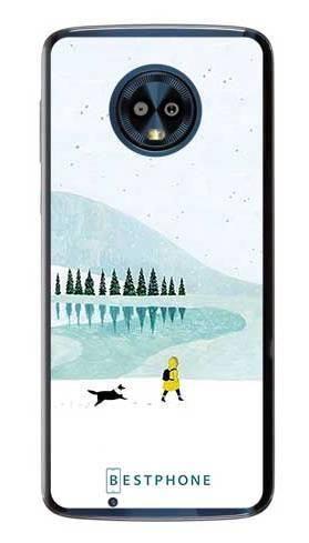 Etui zimowy spacer na Motorola Moto G6