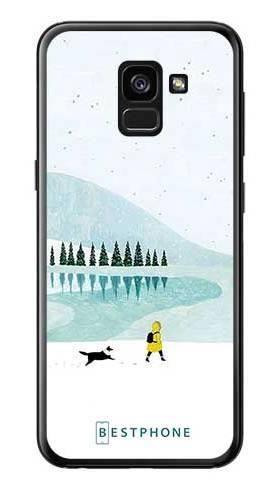 Etui zimowy spacer na Samsung Galaxy A7 2018