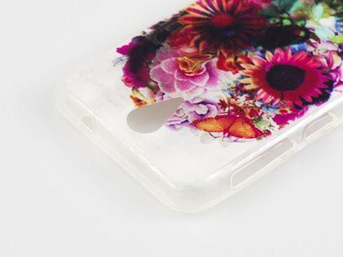 FANCY Samsung GALAXY ACE 4 LTE czaszka kwiaty