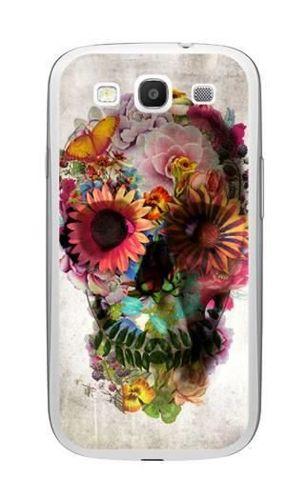 FANCY Samsung GALAXY S3 czaszka kwiaty