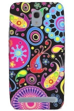 FLOWER Alcatel Idol Mini 2S kolorowy wzór meduza