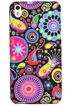 FLOWER HTC Desire 816 kolorowy wzór meduza