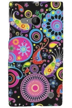 FLOWER Nokia LUMIA 730/735 kolorowy wzór meduza