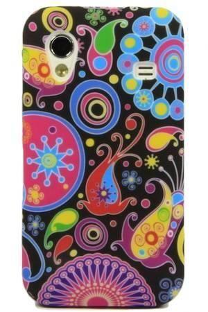 FLOWER Samsung GALAXY ACE kolorowy wzór meduza