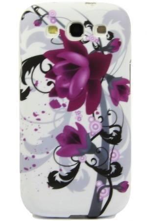 FLOWER Samsung GALAXY S3 fioletowy kwiat
