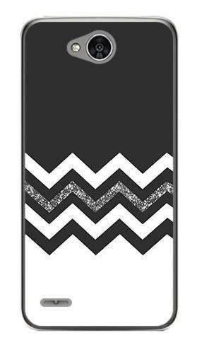 Foto Case LG X POWER 2 biało czarny szlaczek