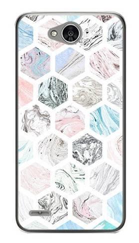 Foto Case LG X POWER 2 kolorowe sześciokąty