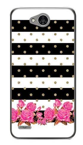 Foto Case LG X POWER 2 paski kwiatki kropki