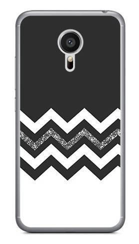 Foto Case Meizu MX5 biało czarny szlaczek