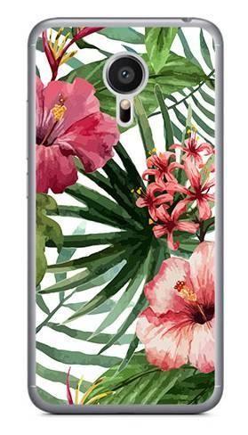 Foto Case Meizu MX5 kwiaty tropikalne