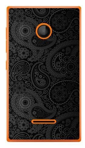 Foto Case Microsoft Lumia 435 czarne wzory boho