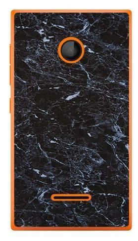 Foto Case Microsoft Lumia 435 czarny marmur