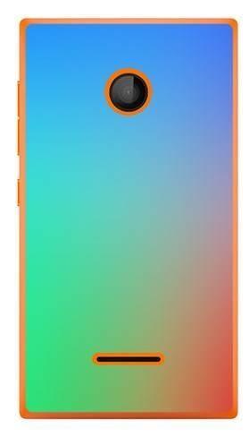 Foto Case Microsoft Lumia 435 tęczowy gradient