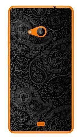 Foto Case Microsoft Lumia 535 czarne wzory boho