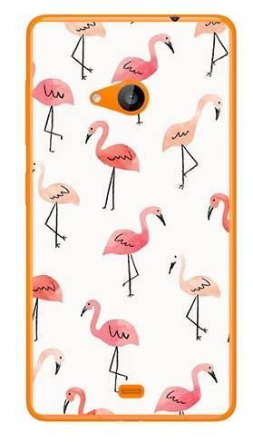 Foto Case Microsoft Lumia 535 różowe flamingi