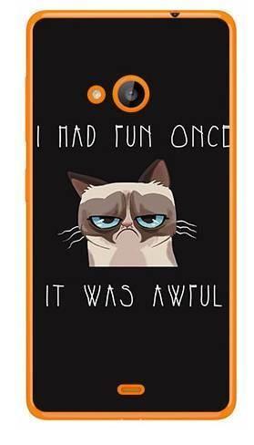 Foto Case Microsoft Lumia 540 grumpy cat