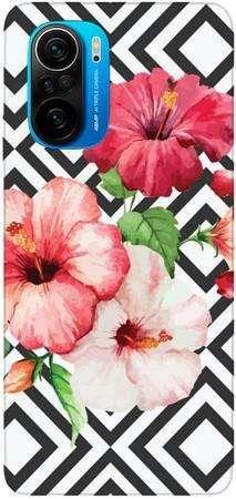 Foto Case Xiaomi Poco F3 kwiaty i wzorki