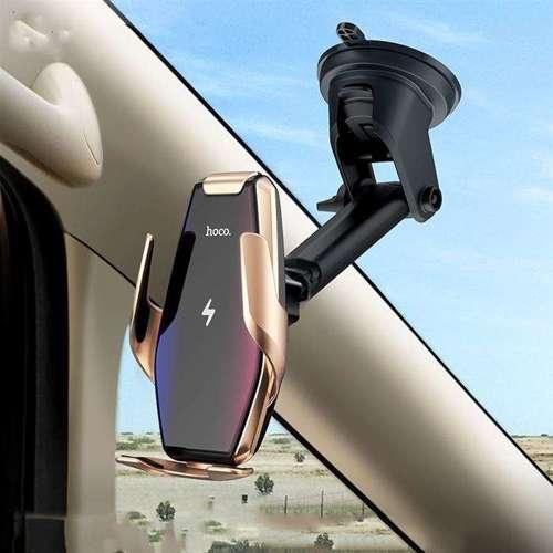HOCO S14 uchwyt samochodowy z ładowarką indukcyjną SILVER