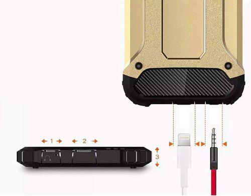 Hybrid Armor pancerne hybrydowe etui pokrowiec Huawei P Smart złoty