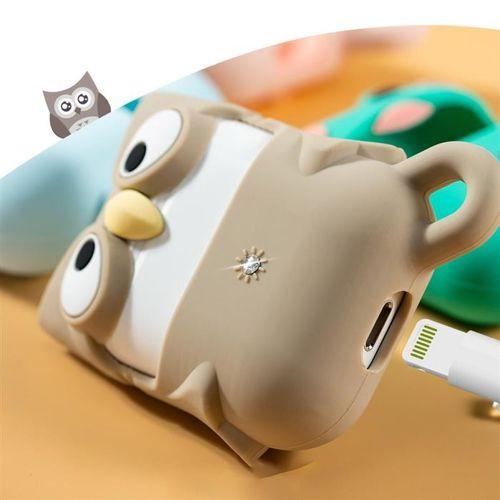 Kingxbar Adorkable Airpods Case etui z kryształami Swarovskiego na słuchawki AirPods 2 / AirPods 1 niebieski