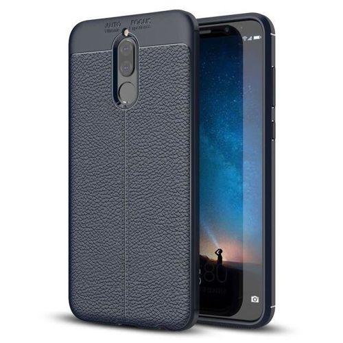Litchi Pattern elastyczne etui pokrowiec Huawei Mate 10 Lite niebieski