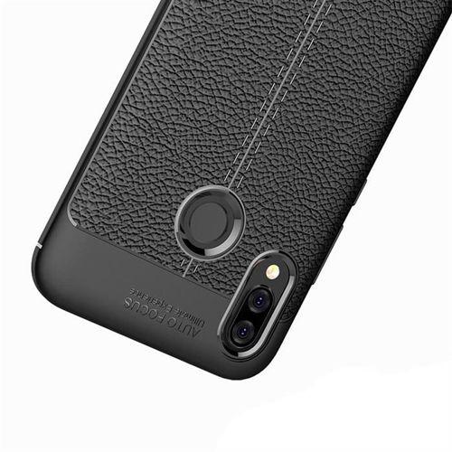 Litchi Pattern elastyczne etui pokrowiec Huawei P20 Lite szary