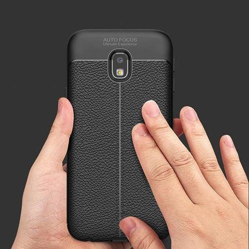 Litchi Pattern elastyczne etui pokrowiec Samsung Galaxy J5 2017 J530 szary