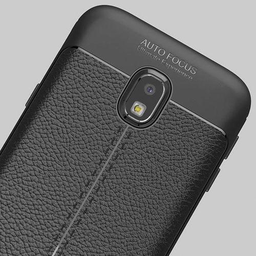 Litchi Pattern elastyczne etui pokrowiec Samsung Galaxy J7 2017 J730 szary