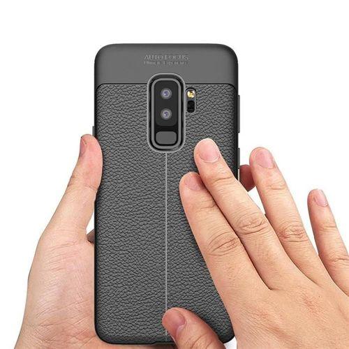 Litchi Pattern elastyczne etui pokrowiec Samsung Galaxy S9 Plus G965 czarny
