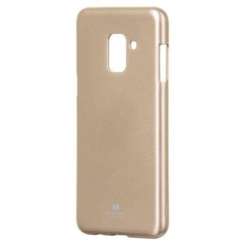 Mercury Goospery Jelly Case żelowe etui pokrowiec Samsung Galaxy A8 2018 A530 złoty