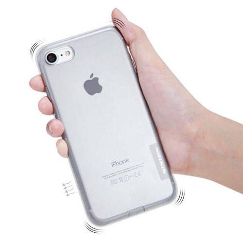 Nillkin Nature żelowe etui pokrowiec ultra slim iPhone 8 Plus / 7 Plus brązowy