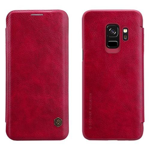 Nillkin Qin skórzana kabura etui Samsung Galaxy S9 G960 czerwony