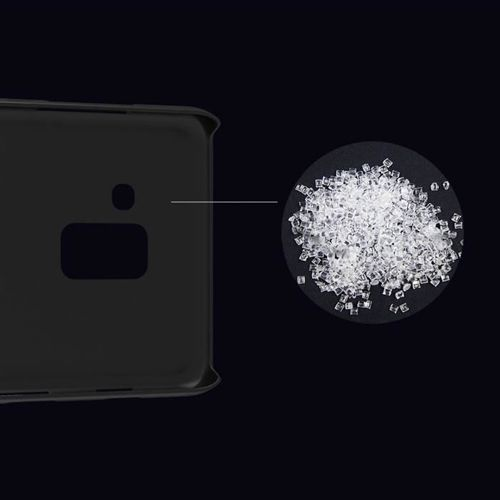 Nillkin Super Frosted Shield wzmocnione etui pokrowiec + podstawka Samsung Galaxy A8 2018 A530 czarny
