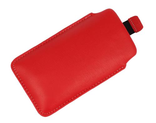 Pionowa skórzana wsuwka Vena NOKIA 5230 czerwona
