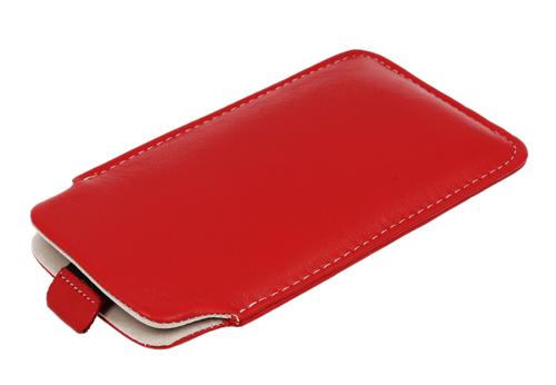 Pionowa skórzana wsuwka Vena NOKIA E52/ E51 czerwona