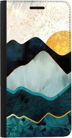 Portfel DUX DUCIS Skin PRO art deco słońce na Samsung Galaxy A70