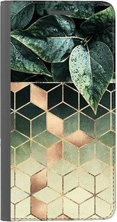 Portfel DUX DUCIS Skin PRO geometryczna roślina na Huawei Honor 10