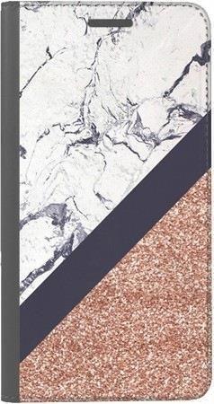 Portfel DUX DUCIS Skin PRO marmurowy brokat na Huawei Honor 7x