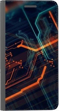 Portfel DUX DUCIS Skin PRO pomarańczowe łącza na Huawei Honor 7x