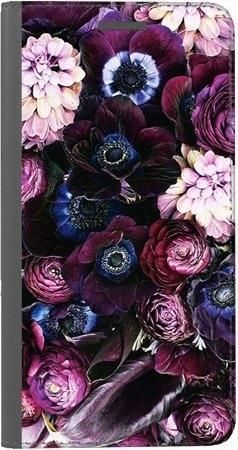 Portfel DUX DUCIS Skin PRO purpurowa kompozycja kwiatowa na Huawei Honor 10