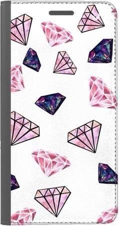 Portfel DUX DUCIS Skin PRO różowe diamenty na Huawei Honor 9 Lite