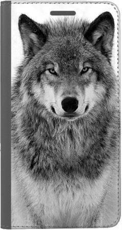 Portfel DUX DUCIS Skin PRO spokojny wilk na Huawei Honor 7x