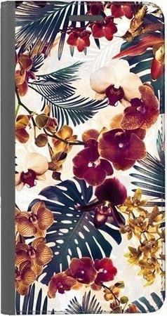 Portfel DUX DUCIS Skin PRO tropikalne kwiaty na Huawei Honor 7x
