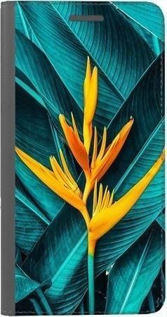 Portfel DUX DUCIS Skin PRO żółty kwiat i liście na Huawei Honor 7x